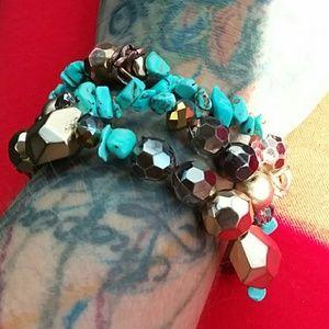 Jewelry - 3 Genuine turquoise bracelets